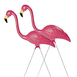 Sculptural Gardens Pink Flamingo Lawn Ornament, Pair