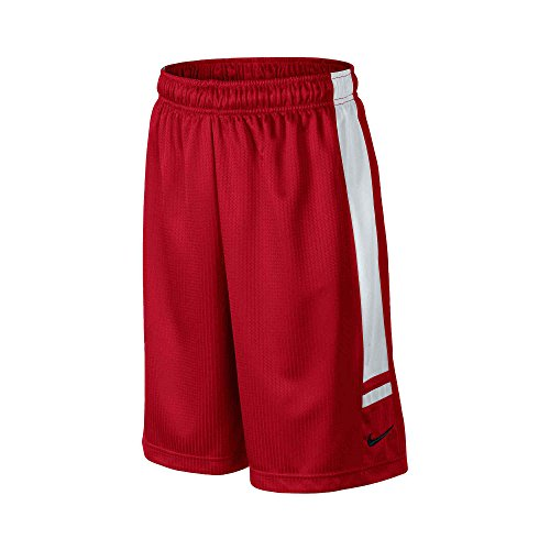Nike Big Boys' (8-20) Franchise Basketball Shorts-Red/White-Medium
