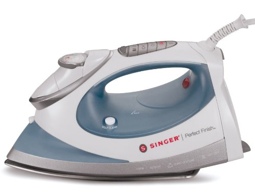 Singer Perfect Finish 1700 Watt Anti-Drip Steam Iron With Brushed Stainless Steel Soleplate And Led Electronic Settings
