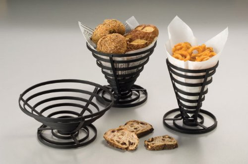 American Metalcraft FCD2 Wrought Iron Flat Coil Slanted French Fry Basket, 7-Inch