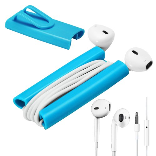 2In1 Rasfox Earphone Headset Earbud With Mic + Rasfox Earbuddy --- Ultimate Cord Winder With Clip For Iphone 3G 3Gs 4 4S 5 5C 5S, Ipod Touch, Nano, Classic, Shuffle , Samsung Galaxy S2 S3 S Iii S4 Mini Note 2 3 Nexus Acer, Htc One, Lg G2, Moto X And More