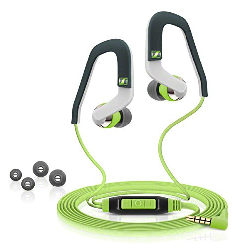 Sennheiser 0CX 686i Sports Microcuffia, Versione Apple, Verde/Antracite