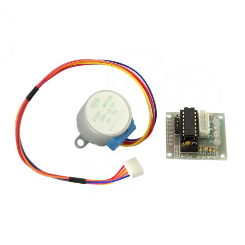 Tabstore Standard Double Panel Design Stepper Motor 4 Phases 5 Wires 5V Dc Uln2003 Driver Chip 500Ma For Pcb Board