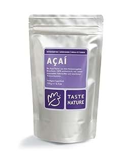 Taste Nature Acai Pulver o. Trägerstoff Bio , 1er Pack (1 x 150 g Packung) - Bio