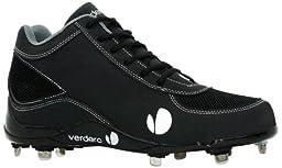 Verdero Classic II Mid Metal Baseball Shoes, Black, Size 10.5