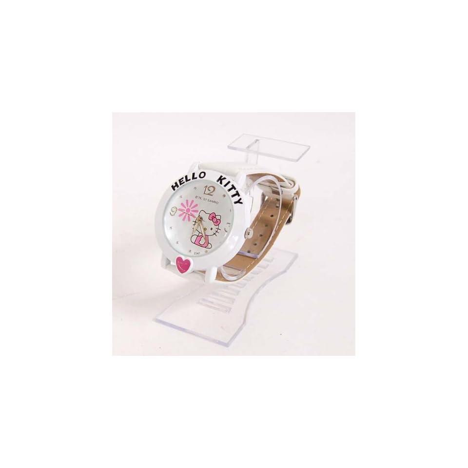 Hello Kitty Girl Wristwatch Wrist Watch Band White Toys