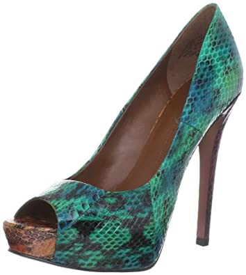 Boutique 9 Women's Caden1 Peep-Toe Pump,Turquoise,6 M US