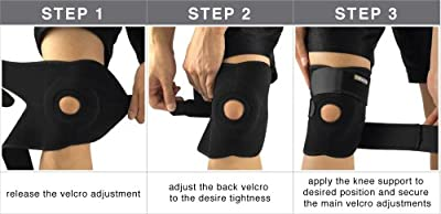 Bracoo Breathable Neoprene Knee Support, One Size, Black