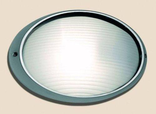Fergie rossa lampada applique argento per esterni in alluminio