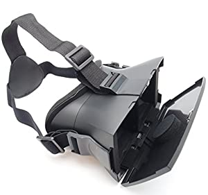 YTR.co® 3D VR Virtual Reality Headset with Head-mounted Headband for 3D Movies and Games, Fits Most Phones Google, iPhone, Samsung Note, LG, HTC, Moto - 3D Glasses