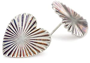 Bing Bang Oversized Ray Heart Earrings
