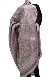 matelco shiny cream woollen viscose shawl