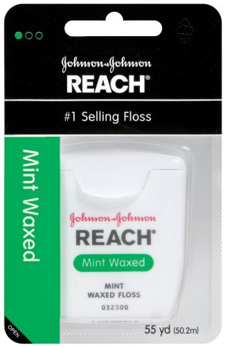 Reach Mint Waxed Dental Floss, 55 Yards front-829934