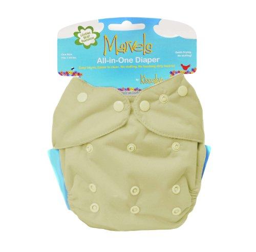 Kissa's All-In One Diaper, Butter Yellow, Newborn - 1