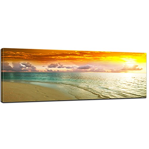 bilderdepot24-wall-art-canvas-picture-panorama-beach-sunset-ii-4724-inch-x-1575-inch-gallery-wrapped