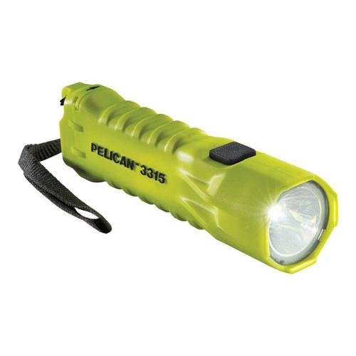 Pelican 3315 High Performance Compact Led Safety Approved Flashlight - Yellow