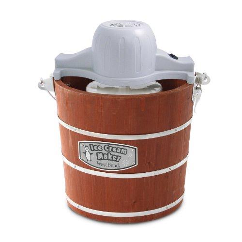 West Bend Wooden Ice Cream Maker, 4-Quart (4 Quart Icecream Maker compare prices)
