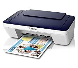 Canon Pixma E477 All-in-One InkJet Wifi Printer (White/Blue)