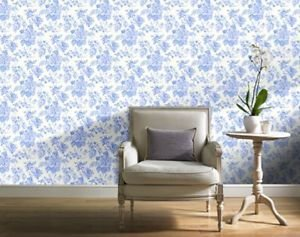 Gran Deco Bouquet Wallpaper - Teal by New A-Brend