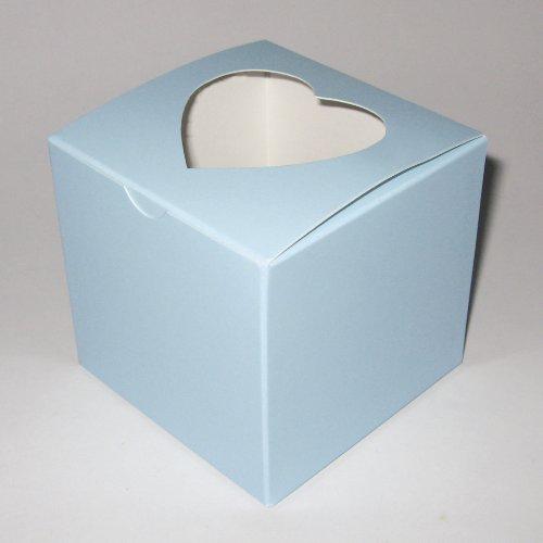Para regalo de boda en la parte superior en forma de corazón cajas de 10 azul