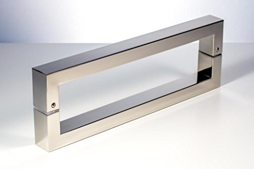 Modern Contemporary 12 Inches Square Rectangle Flat Shape Stainless Steel Door Handle Pull