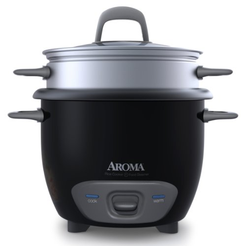 Buy Bargain Aroma 6-Cup (Cooked) Pot Style Rice Cooker and Food Steamer, Black