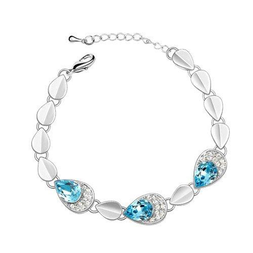 rarelove-austrian-aquamarine-crystal-elements-18k-white-gold-leafs-teardrop-bracelet