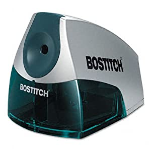 Stanley Bostitch Products - Stanley Bostitch - Compact Desktop Electric Pencil Sharpener, Blue - Sold As 1 Each - The perfect choice when space is at a premium. - HHCTM cutter technology produces a precision point every time and outlasts single blade models by up to five times. - Features a high-capacity, easy-to-clean shavings tray with an integrated safety switch that prevents operation when the tray is removed. - Elegant design accentuates any desktop. -