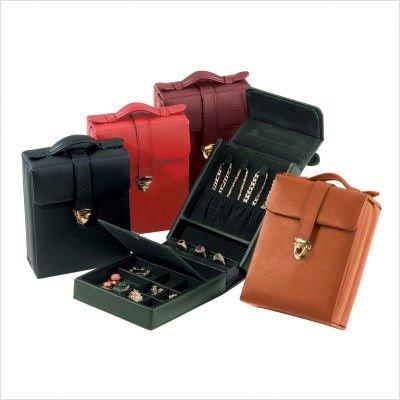 Ladies Pocketbook Jewerly Case Color: Black