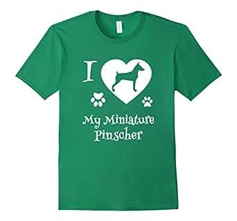 Amazon.com: I LOVE MY MINIATURE PINSCHER is A Min Pin Dog Lovers T