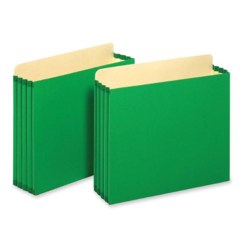 Tops Business Forms, Inc. Heavy Duty File Cabinet Pockets, 3.5-Inch Expansion, Letter Size, Green, 10-Count (FC1524E GRE)