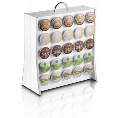 """Mind Reader """"The Wall"""" 50 Capacity K-Cup Coffee Pod Display Rack Holder, White"""