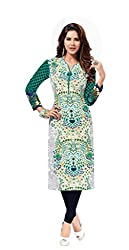 AMP IMPEX Ethnicwear Women's Kurti Fabric MULTI-COLOURED_Free Size