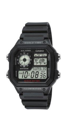 Casio AE-1200WH-1AVEF - Reloj digital de cuarzo para hombre con correa de resina, color negro