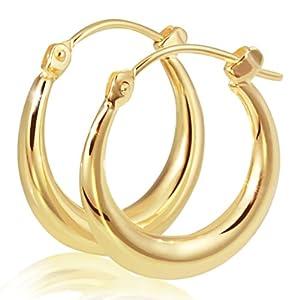 Goldmaid - O3007GG - Boucles d'Oreilles Créoles Femme - Or bicolore 333/1000 (8 carats) 1.3 gr