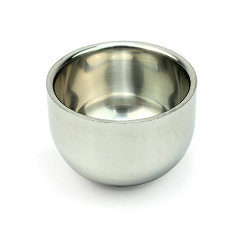 Mens Durable Shave Soap Cup Shinning Stainless Steel Shaving Mug Bowl (Shaving Brush Bowl compare prices)
