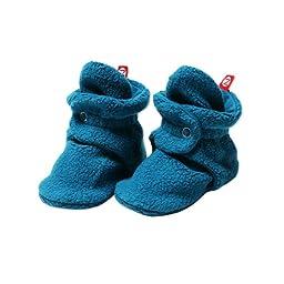 Zutano Unisex-Baby Cozie Fleece Bootie, Pagoda, 12 Months