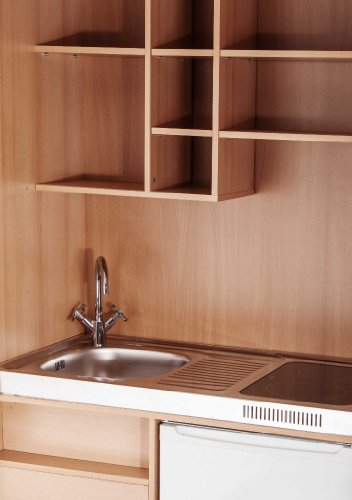 MEBASA MK0009S Büro-Küche Schrankküche Buche 100 cm mit ... | {Schrankküche büro 64}