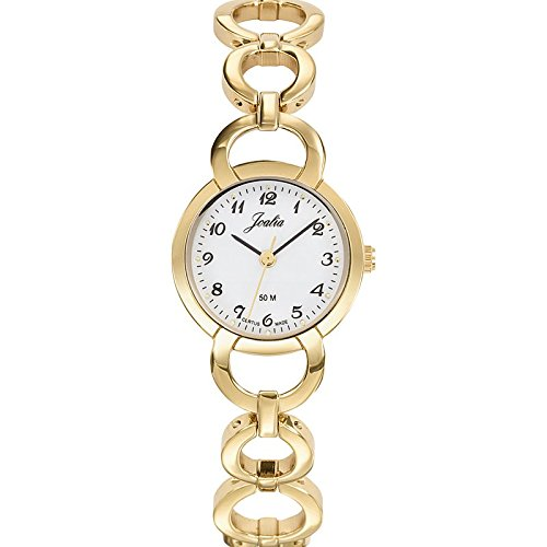Joalia-631930-Orologio da donna con cinturino quadrante, in metallo dorato