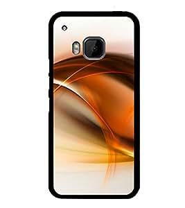 Orange Fluid Pattern 2D Hard Polycarbonate Designer Back Case Cover for HTC One M9 :: HTC One M9S :: HTC M9 :: HTC One Hima