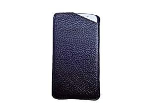 ATV PU Leather BROWN Designer Pouch Case Cover For Lava Iris Atom