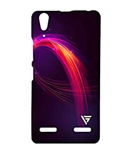 Vogueshell Feather Illustration Printed Symmetry PRO Series Hard Back Case for Lenovo A6000