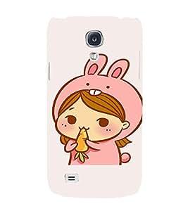 EPICCASE Girl As cute Rabbit Mobile Back Case Cover For Samsung Galaxy S4 Mini (Designer Case)