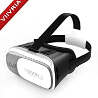 VIIVRIA® 2nd 3D Games Google Cardboard 3D Visual Reality Glasses + Mini Bluetooth Remote for iPhone 6 Plus iPhone 6, Samsung Galaxy S3 S4, Note 3 Note 4,LG etc.smartphone (2nd 3D VR Box + Mini Remote) from VIIVRIA