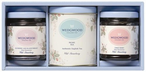 Wedgwood wild strawberry assorted gift (tea, jams) WWS-30A