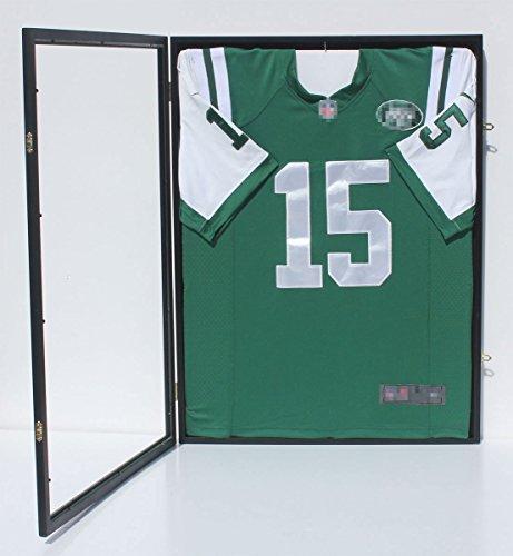 98% UV Protection - Baseball / Football / Basketball / Soccer / Hockey Jersey Display Case Shadowbox Wall Mount JC34-BL (Soccer Jersey Display Case compare prices)