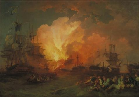 Oil Painting 'Phillip James De Loutherbourg - The Battle Of The Nile,1800', 16 x 23 inch / 41 x 58 cm , on High Definition HD canvas prints is for Gifts And Dining Room, Foyer And Garage Decoration (Target Faux Leather Jackets compare prices)