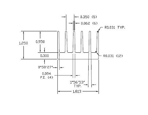 Фото 1.813 x 72 Extruded Aluminum Heatsink 2pcs radiator aluminum heatsink extruded profile heat dissipation for electronic k400y dropship