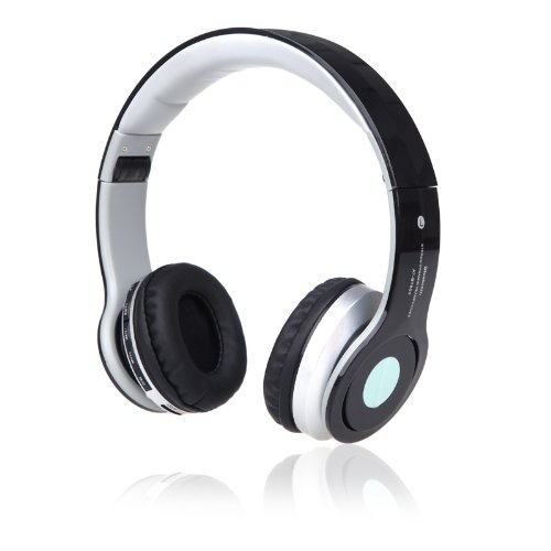 Docooler Foldable Wireless Bluetooth Stereo Headphone Headset Mic Fm Tf Slot For Iphone Ipad Pc White (Black)