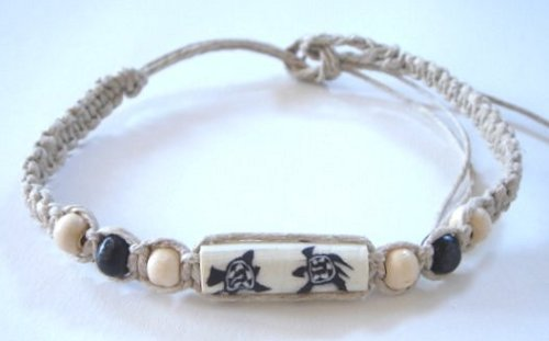 Hawaiian Honu Sea Turtle Hemp Anklet / Bracelet